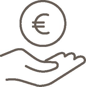 Planners van waarde - icoon schenken en geven